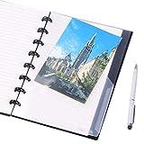 Eagle Discbound - Divisori tascabili, in plastica, 2 tasche, formato Junior, per agenda Discbound o quaderni, confezione da 2