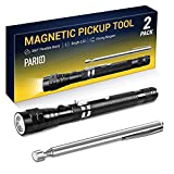 Magnetic Pickup Tool with LED Lights, Fathers Day Birthday Cool Gift for Dad/Grandpa/Husband/Guy/Boyfriend/Him, Tool Gadget Father's Gift Ideas for Men, Telescoping Magnet Flashlight Pick Up Tool Set