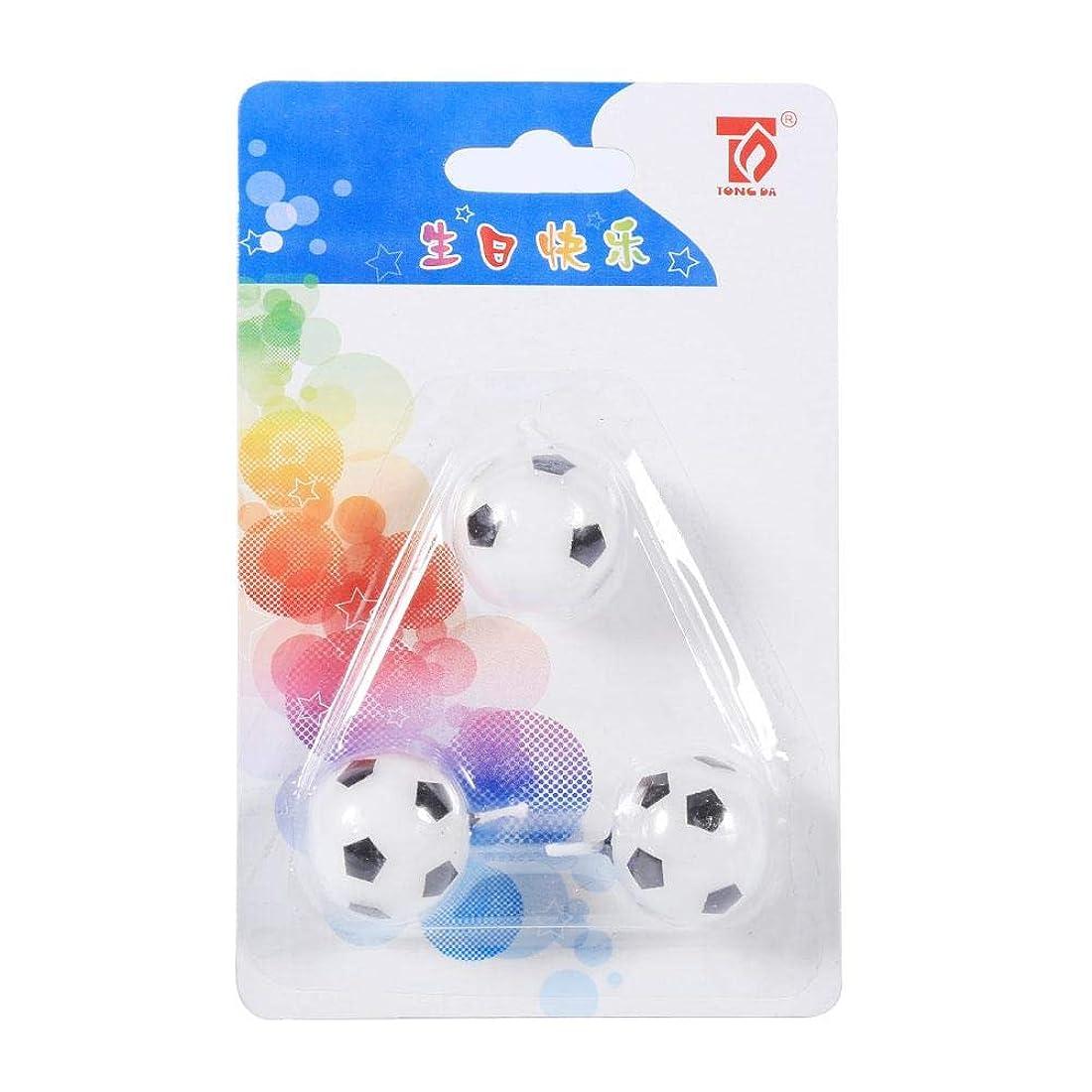 韻女王チェリーEboxer キャンドル サッカーボールキャンドル キャンドル誕生日 子供向 3個入 サッカーボールの形 誕生日 パーティケーキのキャンドル 飾り物 可愛い