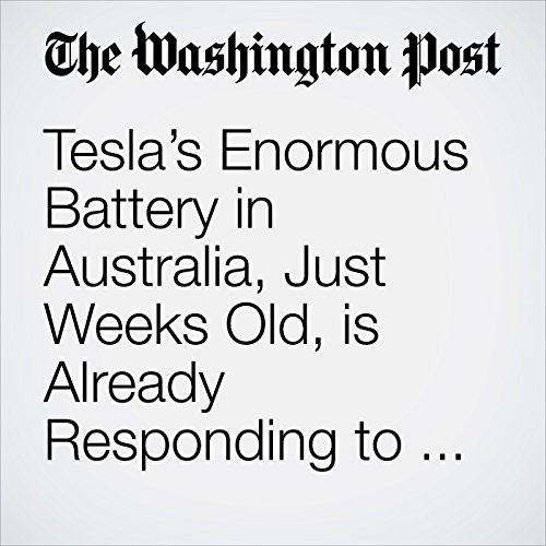 Tesla's Enormous Battery in Australia, Just Weeks Old, is Already Responding to Outages in 'Record' Time copertina