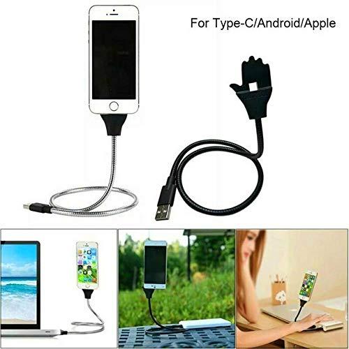 Luie staande oplaadkabel, flexibele gsm-houder USB-oplaadkabel_3 in 1 oplaadkabel-gsm-houder, datatransmissiekabel