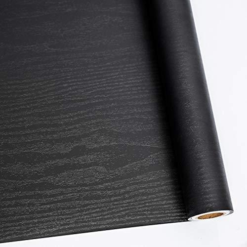 Black Wood Peel and Stick Paper 11.8