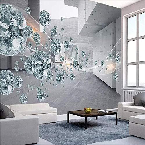 rylryl Papel pintado mural etiqueta de la pared personalizado foto mural 3d bola de cristal abstracto espacio arquitectura ladrillo pared tv fondo pared papel de parede-300x210cm