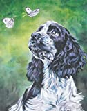English Cocker Spaniel Pet Dog Animal DIY Oil Painting Kit Paint by Numbers Kit for Kids and Adults ﹣ Canvas Wall Art Home Decoration 16 X 20 Inch(Without Frame)