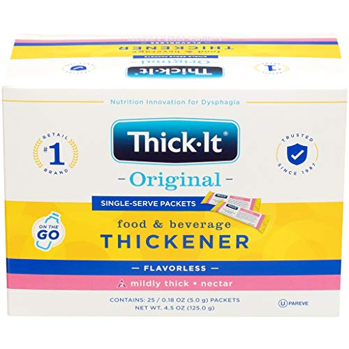 Thick-It Original Food & Beverage Thickener Single-Serve Packets - Mildly Thick, 5g Packet (Value Pack of 200)