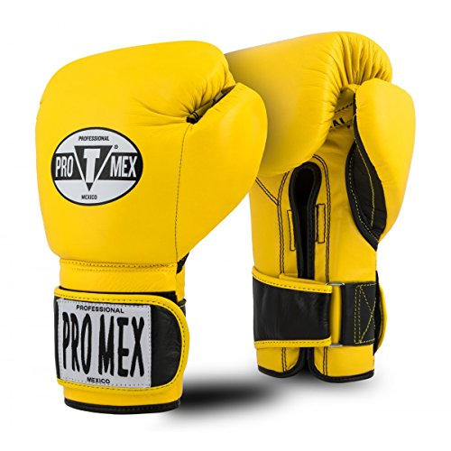 Title Boxing Pro Mex Professional Bag Gloves V2.0, Yellow, 14 oz