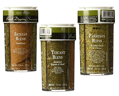 Dean Jacobs Bread Dipping Seasonings, Large, 4.0-Ounce (4 Spice Variety Pack) 3 Pack