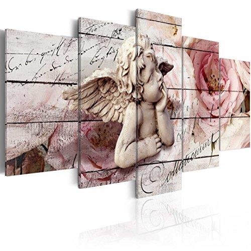murando Quadro 200x100 cm 5 pezzi Stampa su tela in TNT XXL Immagini moderni Murale Fotografia Grafica Decorazione da parete angelo Vintage b-C-0051-b-m