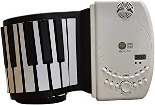 Piano 88 Key Hand Rolled Piano Portable Digital Piano Chargable Midi Keyboard Outdoor Soft Piano Popular Gift (Color : 88 ...