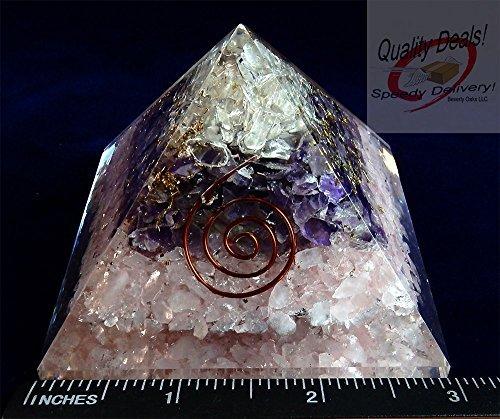 Charged Gemstone Large Orgone Pyramid