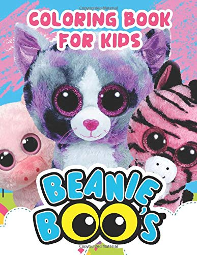 Beanie Boo's Coloring Book: Adult Beanie Boos Books with Fun, Easy, Relaxing Coloring Pages