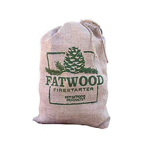 Better Wood Products Fatwood Firestarter Burlap Bag, 10-Pounds