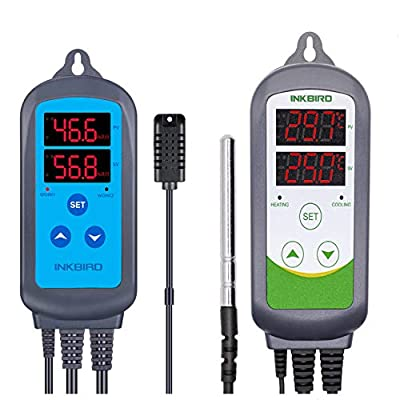 Inkbird Combination Humidity Controller IHC200 + Temperature Controller ITC308, ITC310TB