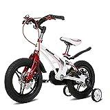 YUMEIGE Kinderfahrräder Kinderfahrrad, 14.12.16.18 Zoll Baby Kid Boy Pedal Fahrrad 2-9 Jahre Alten Jungen Mädchen Auto Biken (Color : White, Size : 12in)