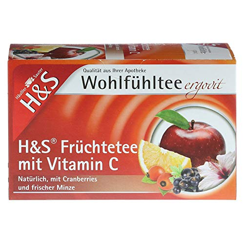 H & S Fruit Tea with Vitamin C, Pack of 20