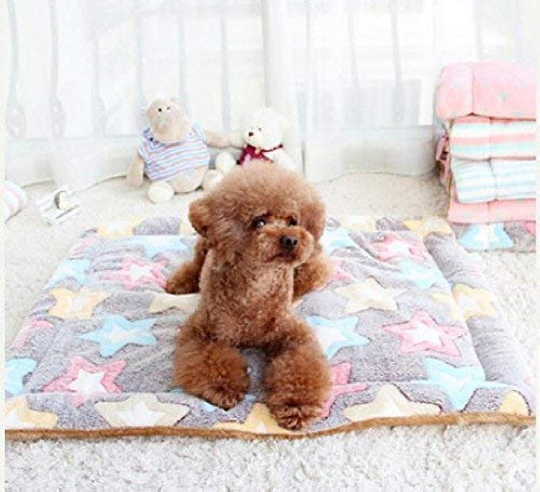 JINGB Pet Supplies Four Seasons Pet Pad Pet Blanket (color   FivePointed Star, Size   S) Pet Bed Blanket