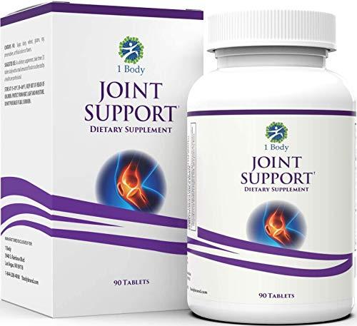 Glucosamine, Chondroitin, MSM - Clinically Proven ApresFlex, Turmeric Curcumin (Curcuma Extract 95% Curcuminoids) & More - Joint Support Supplement for Men & Women