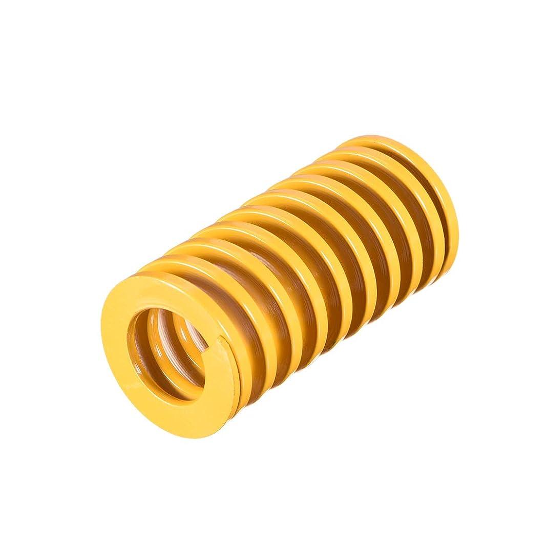 構造的罰ケントuxcell 圧縮バネ 25mm OD 50mm ロング スパイラル スタンピング 軽負荷 圧縮バネ イエロー