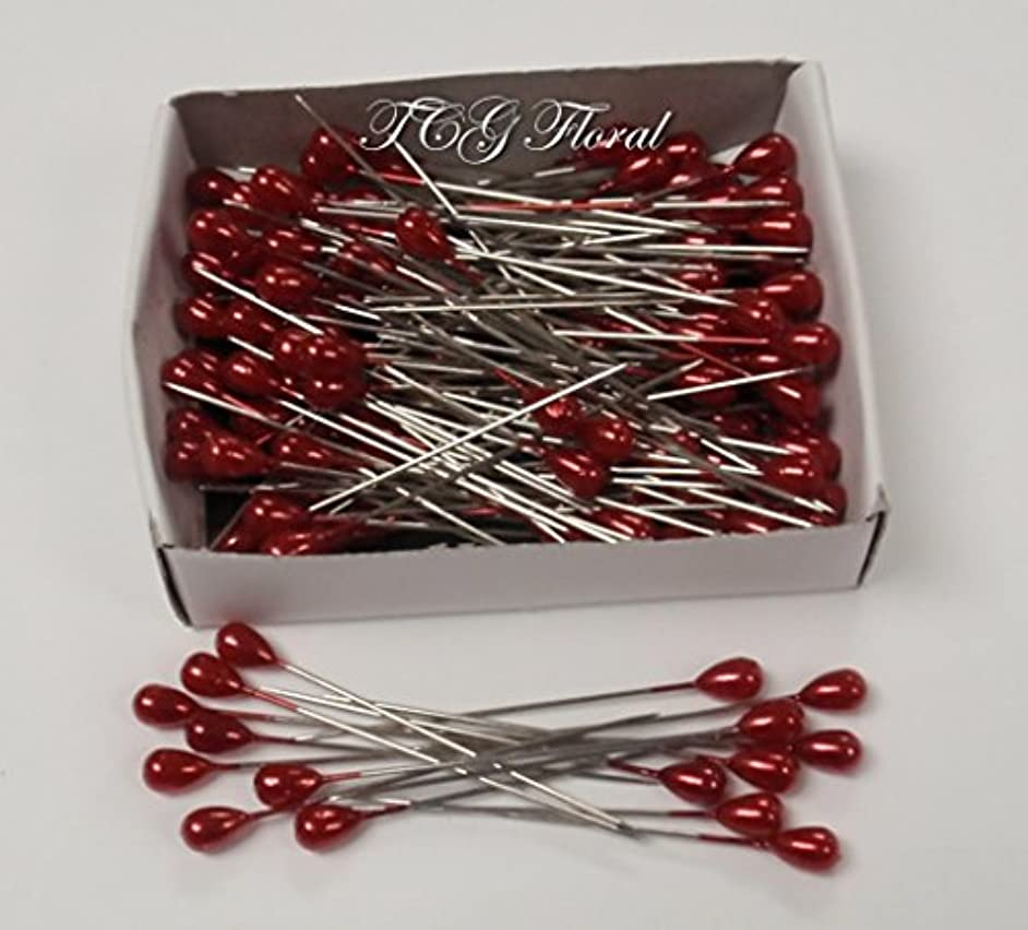 Corsage / Boutonniere Red Teardrop Pins 2