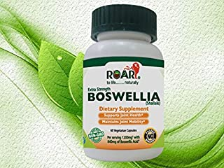 ROAR High Potency Boswellia Vegetarian Capsules, 1200mg per serving with 70% Boswellic Acid for Anti-Inflammatory and Pain relief