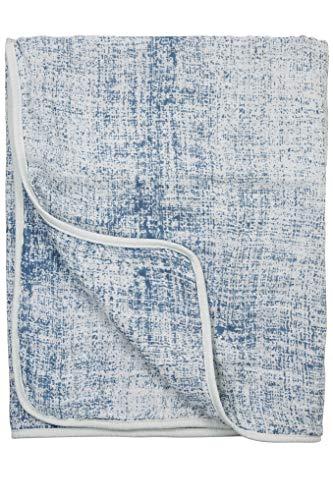 Couverture en Mousseline Fine Lines, 120 x 120 cm, Bleu Jean