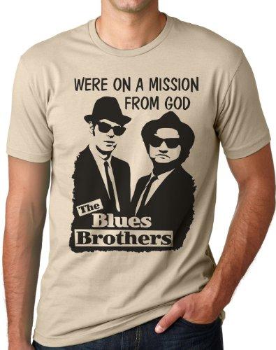 OM3 - Blues Brothers - Mission from GOD - T-Shirt Jake and Elwood Blues USA, M, Khaki