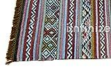 iinfinize – Indischer Kelim-Teppich, Wolle, Jute, Kelim-Teppich, handgewebt, Vintage-Stil, Kelim-Teppich, dekorativer Kelim-Läufer, wendbarer Überwurf, traditionelle Bodenmatte