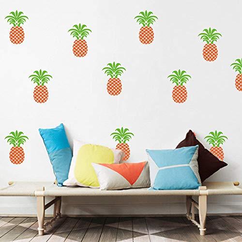 TCCSQ Cute Pineapple Wall Decal Baby Nursery Home Decor Cartoon DIY Pineapple Wall Stickers Easy Wall Art Cut Vinyl Easy Removable