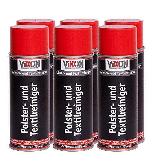 Preisvergleich Produktbild 6 Dosen VIKON Polster- und Textilreiniger Spray 400 ml (Aktiv-Schaumreiniger)