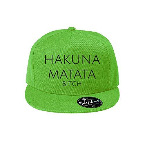 OwnDesigner Cap Hakuna Matata Bitch Reine Farbe Baseboard Baseballkappe Kappe, Mütze (95-Cap-Grun)