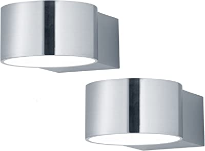 Breite 50 cm 281670207 inklusive 2 x 6W LED mit Schalter Trio Leuchten LED-Bad-Wandleuchte in Nickel matt