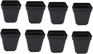 OUNONA 植木鉢 プラスチック製 50個入り 多肉植物 サボテン鉢 育苗ポット フラワーポット 軽量 ガーデン用品(S)