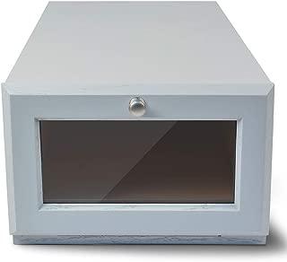 ShoeTrap Standard Shoe/Sandal Storage Box, Modular, Model ST-10WO, White Oak