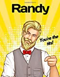 Pop Art Notebook Pin Up Retro Hipster Bearded Man Bow Tie Vest Randy You're the Tits!: A personalize...