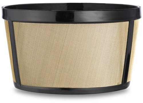 CAFÉ BREW COLLECTION 4 Cup Gold Permanent coffee filter, Golden Stainless Steel