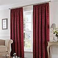 """Fusion - Eastbourne - Ready Made Pair of Pencil Pleat Curtains - 66"""" Width x 90"""" Drop (168 x 229cm),..."""