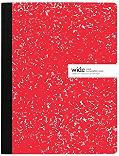 """Office Depot Brand Composition Notebook, 9-3/4"""" x 7-1/2"""", Wide Ruled, 200 Pages (100 Sheets), Red"""