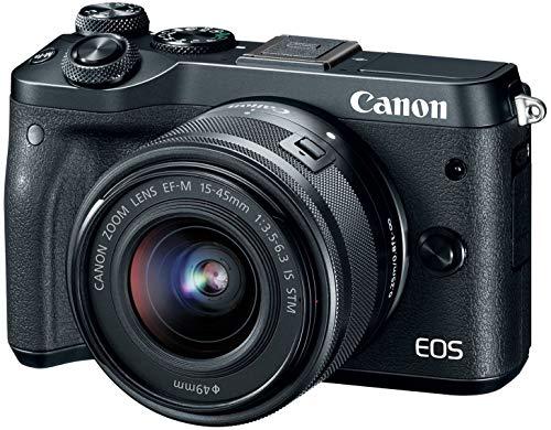 Canon EOS M6 (Black) EF-M 15-45mm f/3.5-6.3 is STM Lens Kit (Renewed)