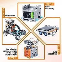 Giochi Per Ragazzi Di 8-12 Anni Maschio Giocattoli Robot Solare Educativi 12 in 1 ,Esperimento di Scienza Dell'edilizia Fai-da-te Per Bambini di Età Compresa Tra 8 e 12 Anni Robot Giocattolo #3