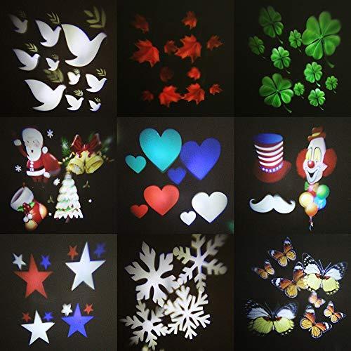 Decoración navideña Luz Nocturna Luces de Escenario al Aire Libre Proyector de Copo de Nieve de Navidad Jardín Familiar Starlight