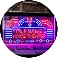 ADVPRO Personalized Your Name Custom Home Theater Established Year Dual Color LED Neon Sign st6-ph1-tm