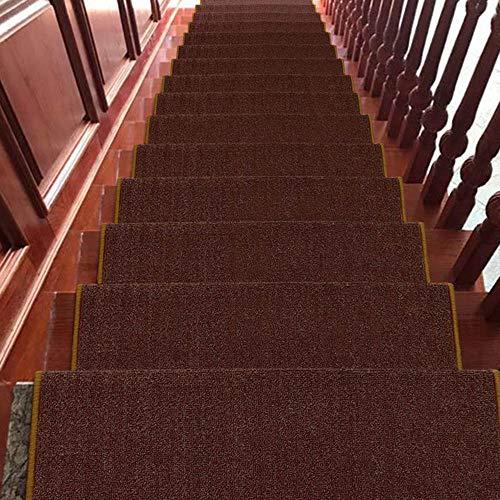 HAIZHEN gebied tapijt, trapbekleding, antislip tapijt, trapbekleding, geen lijm, zelfklevend, machinewasbaar, set met 7 (65 * 24 cm, 75 * 24 cm, 80 * 24 cm, 90 * 24 cm) deurmatten