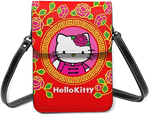 Hello Kitty Red Cell Phone Purse Small Crossbody Bag Wallet Shoulder Bag Card Holder Handbag For Women New Year 2021