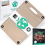 freegreen® Premium Schneidebrett 29x19 aus Reishülsen I 100% biologisch abbaubar und kompostierbar...