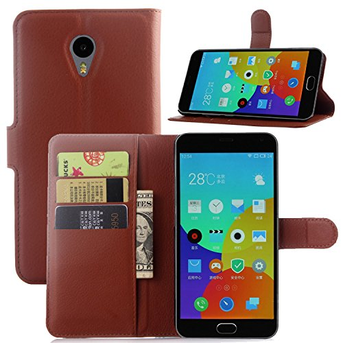 Litao-Case CN Hülle für Meizu m2 Note hülle Flip Leder + TPU Silikon Fixierh Schutzhülle Case 2