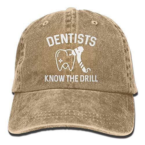 Not Applicable Dad Hat,Sombrero De Sol,Sombrero De Deporte,Sombreros Sombrilla Al,Ocio Sombrero,Los Dentistas Conocen El Taladro Denim Jeanet Gorra De Béisbol Ajustable Papá Sombrero