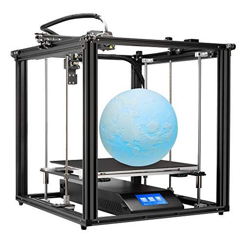 Creality Ender-5 Plus 大型 3Dプリンター 自動レベリング タッチスクリーン 印刷サイズ350*350*400mm ガラスベッド フィラメントセンサー 停電復帰 Meanwell電源 ダブルZ軸 ダブルY軸 安定印刷 3D Printer