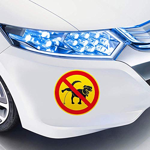 Pegatinas De Coches Para orinar perros está prohibido personalidad pegatinas creativas etiqueta engomada del coche decoración del coche 13 cm x 12,9 cm