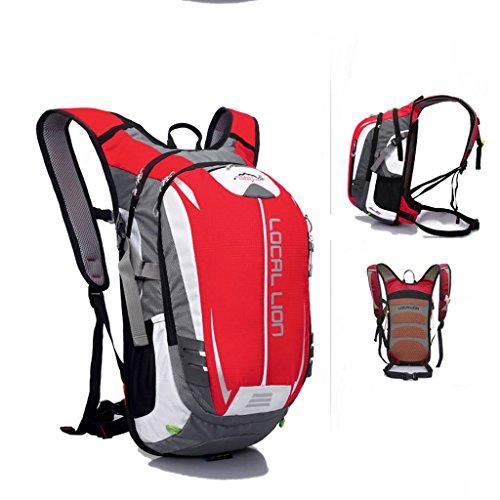 SINCERE@ Outdoor équitation sac à dos d'hydratation sac à dos petits respirants légers sacs sac de sport d'alpinisme (Rouge)