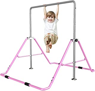 Yi Xuan Children's Gymnastics bar Single Pole Primary Security safly Fun Training Indoor Home Height Adjustable Folding Safe and Carefree 3 to 7 Years Old